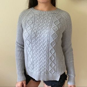 MICHAEL KORS GREY KNIT SWEATER